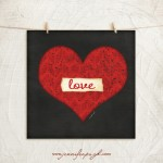 Love Heart Giclee Art Print