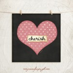 heart cherish 12 x 12 giclee art print by Jennifer Pugh.