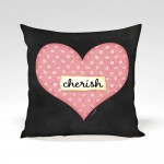 Heart Cherish Valentine Pillow by Jennifer Pugh.