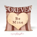 Forever Be Mine Valentine Pillow by Jennifer Pugh