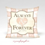 Always & Forever Valentine Pillow by Jennifer Pugh.