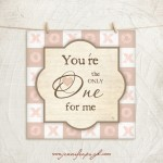 You're the only one Pink/Brown Giclee Fine Art Print by Jennifer Pugh.