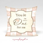 You're the Only One Valentine Pillow by Jennifer Pugh.