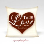 True Love Valentine Pillow by Jennifer Pugh.