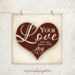 Your Love giclee art print by Jennifer Pugh