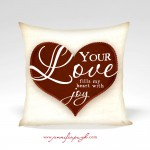 Your Love Valentine Pillow by Jennifer Pugh
