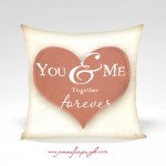 You & Me Valentine Pillow by Jennifer PUgh