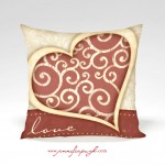 Sweet Love Valentine Pillow by Jennifer Pugh