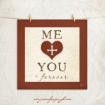 Me + You_Squared giclee fine art print by Jennifer Pugh.