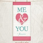 Me & you Pink/Blue giclee fine art print by Jennifer Pugh.