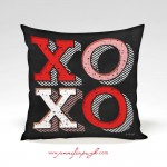 XOXO Valentine Pillow by Jennifer Pugh