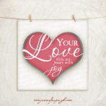 Your love Pink Blue giclee art print by Jennifer Pugh