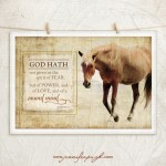 Horse I -God Hath Giclee Art Print by Jennifer Pugh.