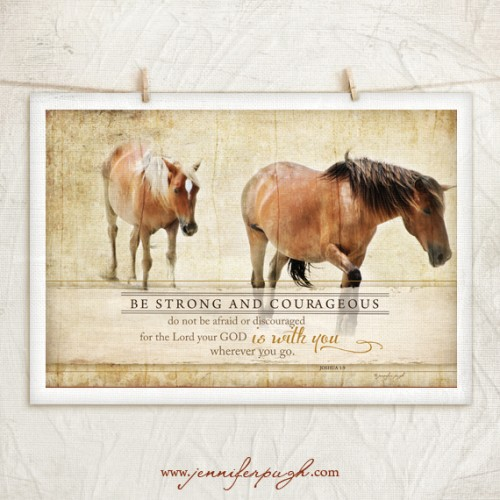 Horse IV Be Strong Giclee Fine Art Print by Jennifer Pugh.