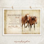 Horse V Trust in the Lord Giclee Fine Art Print by Jennifer Pugh.