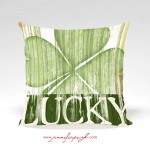 Lucky St Patrick's Day Pillow by Jennifer Pugh