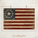 American Flag Giclee Art Print by Jennifer Pugh.