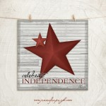 Celebrate Independence art print by Jennifer Pugh.