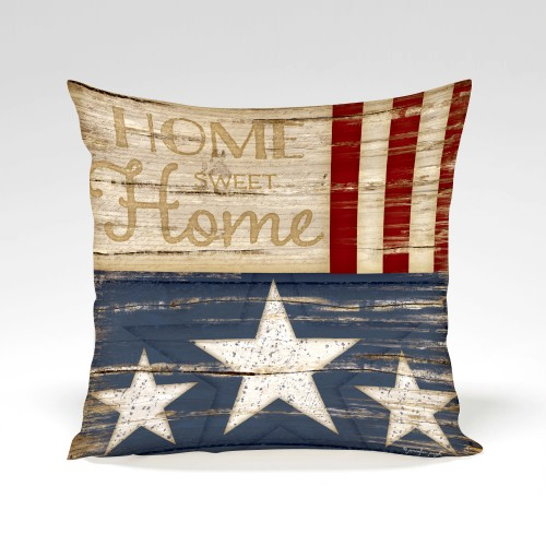Home Sweet Home Pillow by Jennifer Pugh.