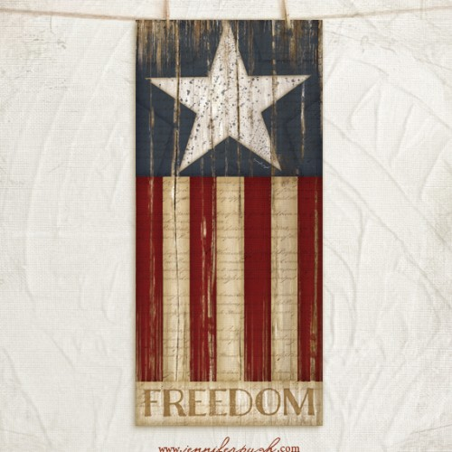 Stars and Stripes art print by Jennifer Pugh.