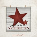 Proud to be an American art print by Jennifer Pugh.