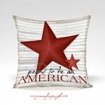 Proud to be an American Pillow with art work by Jennifer Pugh.