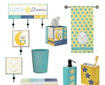 My Little One Collection includes many fun accessories for children's bathrooms such as towels, rugs, soap holders, garbage cans and more.