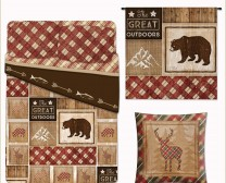 Cabin Rules Collection includes fun accessories to decorate your cabin in the woods including comforters, curtains and pillows.