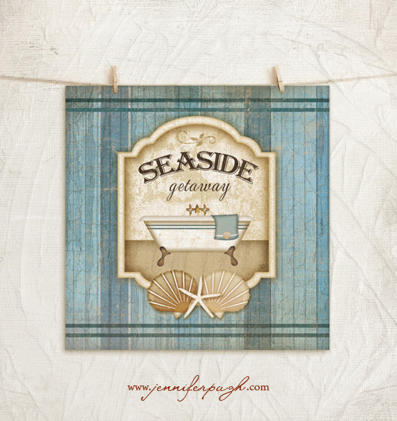 Seaside Getaway Giclee Art Print by Jennifer Pugh Studios.