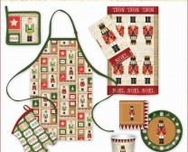 The Christmas Nutcrackers Collection includes many fun holiday items to decorate your home including hot pads, aprons and more.