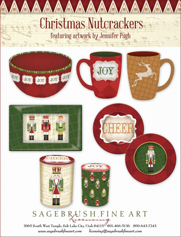 The Christmas Nutcrackers Collection includes many fun holiday items to decorate your home including mugs, platters, bowls and more.