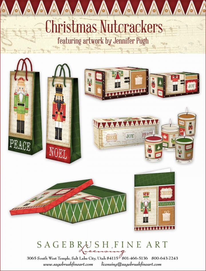 The Christmas Nutcrackers Collection includes many fun holiday items to decorate your home including gift bags, gift boxes and more.