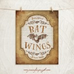 Bat Wings Halloween giclee art print by Jennifer Pugh Studios.