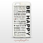 Be Happy Phone Case by Jennifer Pugh Studios