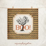 Halloween Boo art print by Jennifer Pugh Studios.