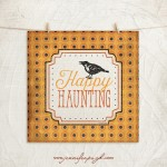 Happy Haunting Halloween art print by Jennifer Pugh Studios.