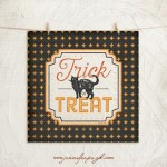 Trick or Treat giclee art print by Jennifer Pugh Studios.
