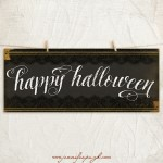 Happy Halloween giclee art print by Jennifer Pugh Studios.