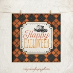 Happy Halloween art print by Jennifer Pugh Studios.
