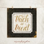 Treat or Treat Halloween art print by Jennifer Pugh Studios.