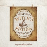 Witch's Potion Halloween giclee art print by Jennifer Pugh Studios.