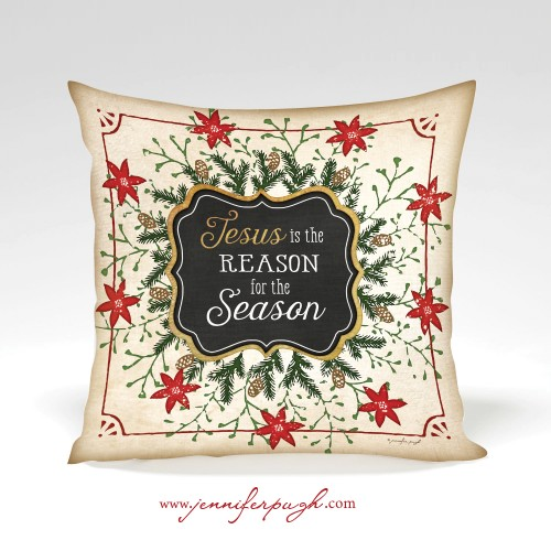 Jesus is the Reason for the Season decorative pillow