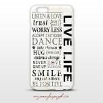 Live Life Phone Case art by Jennifer Pugh