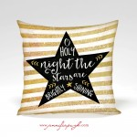 O Holy Night Star Decorative Pillow by Jennifer Pugh Studios