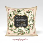 the magic of christmas decorative pillow by jennifer pugh