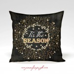 Tis the Season decorative pillow by Jennifer Pugh Studios.