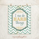 I can do hard things art print by Jennifer Pugh Studios.